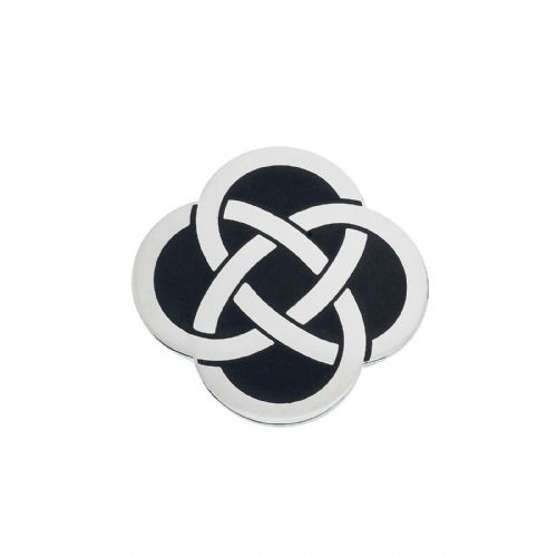 Celtic Knot Black Brooch Silver Plated Brand New Gift Packaging